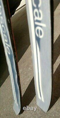 Vintage Trak No Wax Fishscale 210 Cross Country Skis with Rottefella Bindings XC