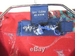 Vtg 1983 RARE Ralph Lauren Sz 8 M Red Blue St Moritz Cross Country Ski LS Shirt