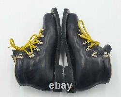 Vtg Asolo Snowfield I Telem 3 Pin 75mm Leather Cross Country Ski Boots Size 10