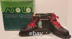 Vtg Asolo Sport SUMMIT 1 ANFIBIO Leather Cross Country Ski Boots sz 8.5 NEW VHTF