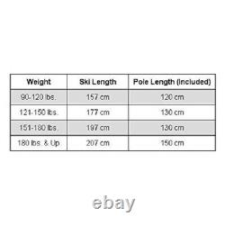 Whitewoods 75mm 3Pin Cross Country 157 cm Ski Package (for Skiers 90-120 lbs.)