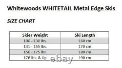 Whitewoods WHITETAIL Adult Metal Edge Cross Country Skis, Rottefella NNN Binding